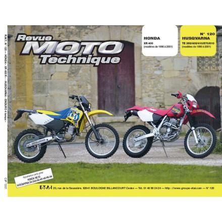 Revue Moto Technique RMT 120.1 HONDA XR400 HVA TE 350 à 610