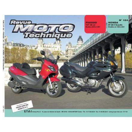 Revue Moto Technique RMT 124.1 PIAGGIO X9 / HONDA NT 650 V DEAUVILLE