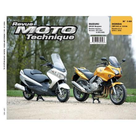 Revue Moto Technique RMT 149.1 SUZ UH125 BURG INJ 07/08+HON CBF1000 06/08