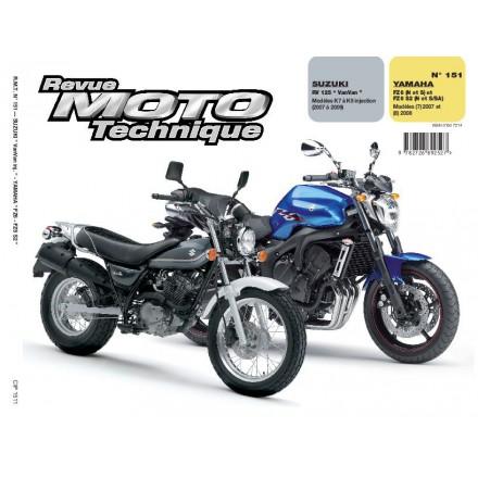 Revue Moto Technique RMT 151.1 SUZUKI RV125 R+YAMAHA FZ6N ET FZ6S 07/08