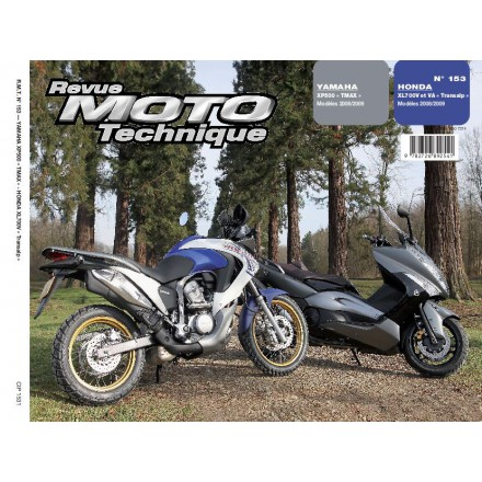 Revue Moto Technique RMT 153.1 YAMAHA 500 TMAX 08/09+HONDA XL700V >2008
