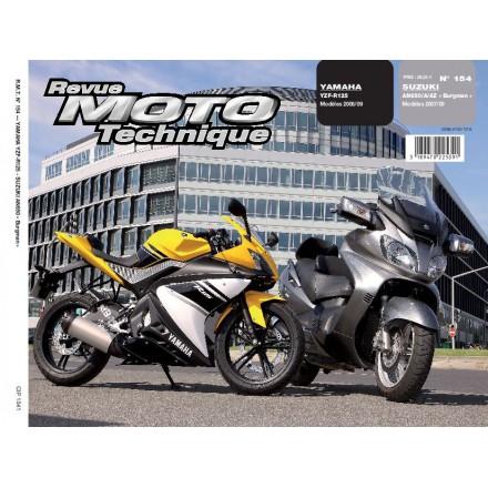 Revue Moto Technique RMT 154.1SUZUKI 650BURGMAN 07/09+YAMAHA YZF-R125 >08