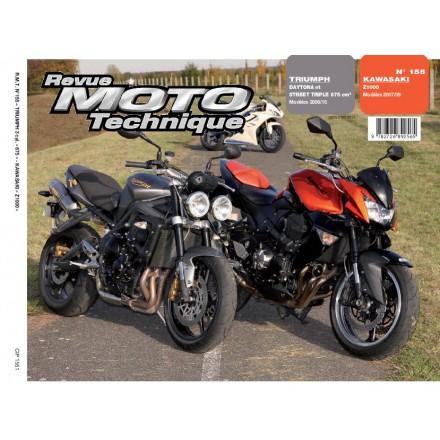 Revue Moto Technique RMT 155.1 KAWA. Z1000 + TRIUMPH STREET TRIPLE & DAYT