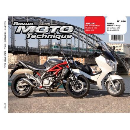 Revue Moto Technique RMT 156.1 HONDA 125 S-WING + SUZUKI SFV650 GLADIUS
