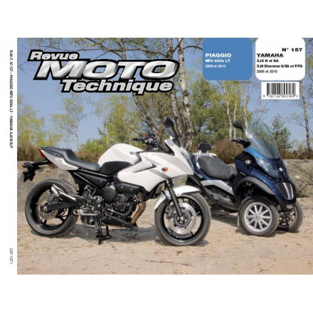 Revue Moto Technique RMT 157.1 PIAGGIO MP3 400 LT+YAMAHA XJ6