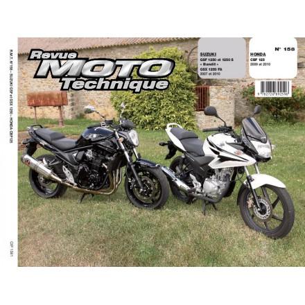Revue Moto Technique RMT 158.1 HONDA CBF 125+SUZUKI GSF/GSX 1250 BANDIT