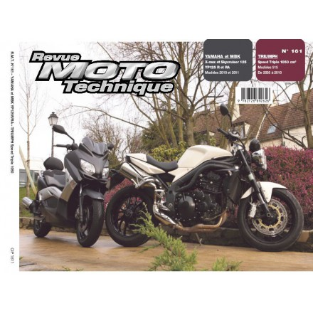 Revue Moto Technique RMT 161 YAM YP125R XMAX/MBK SKYCRUISER 125+TRIUMPH