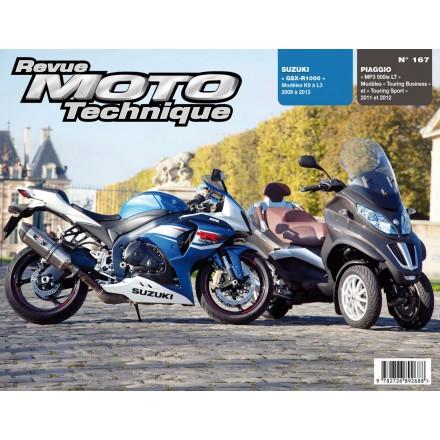Revue Moto Technique RMT 167 PIAGGIO MP3 500LT 11à12+ SUZ GSX-R1000 09à13