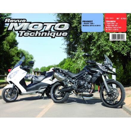 """Revue Moto Technique RMT 170 PEUGEOT Satelis 125""""/TRIUMPH """"Tiger 800""""   """""""