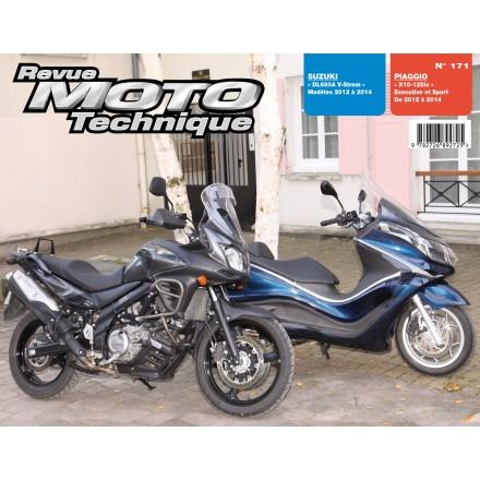 Revue Moto Technique RMT171 PIAGGIOX10 125IE SUZUK DL650A V-STROM 2012-14
