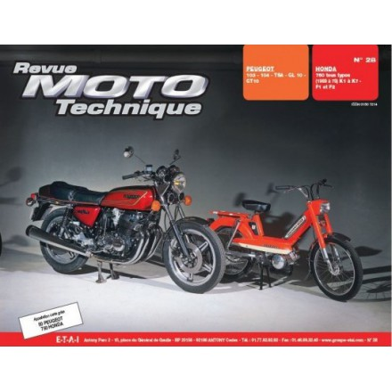 Revue Moto Technique RMT 28 PEUGEOT 103-104 TSA-GL-GT 10/HONDA CB 750