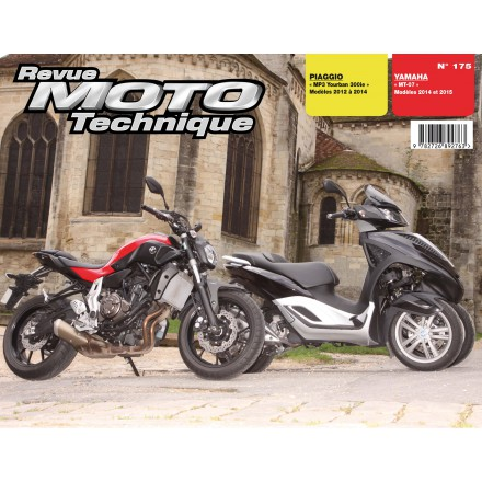 Revue Moto Technique RMT 175 PIAGGIO Yourban MP3(12-14)YAMAHA MT07(14-15)