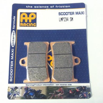 Plaquettes de frein AP RACING LMP234SM, Maxi Scooter Métal Fritté Avant/Arrière