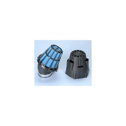 Filtre à air Polini Blue Air Box coudé 30° D. 42mm