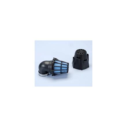 Filtre à air Polini Blue Air Box coudé 90° D. 37mm