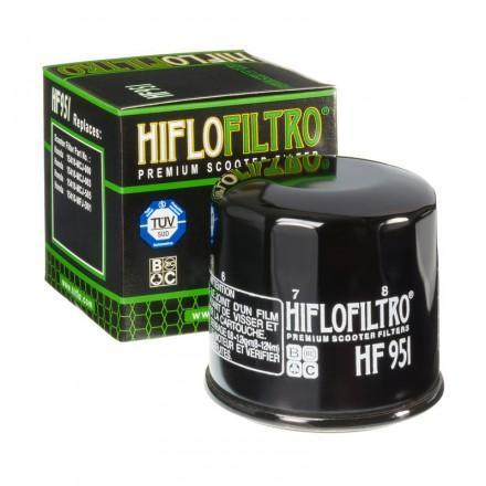 HF951 Filtre à huile HIFLOFILTRO HF951 HONDA 300 SH 07-10, 400 SILVER WING 01-,400 SW-T, 250 FORZA, 600 SILVER WING 01-09 (65x64
