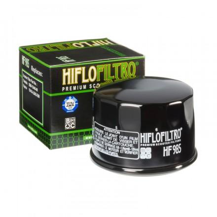 HF985 Filtre à huile HIFLOFILTRO HF985 POUR YAMAHA 500 TMAX 01>11, 530 TMAX 12>16 (OE 5DM-13440-00)-KYMCO 500 XCITING (68x50mm)