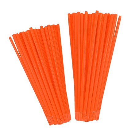 Couvr rayon NoenD Orange Fluo 76pcs