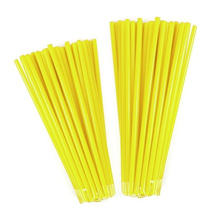 Couvr rayon NoenD Jaune Fluo 76pcs