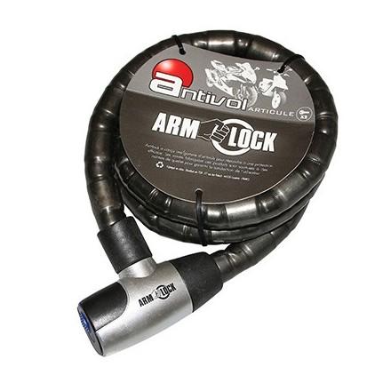 Antivol articilé ARMLOCK 1,50M (DIAM 25mm) avec 2 CLES
