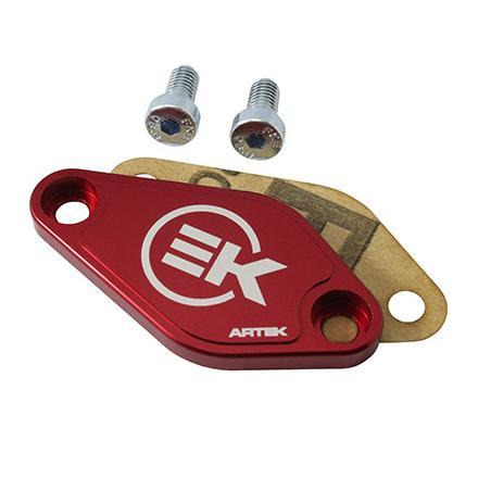 Plaque obturateur Artek pompe à huile Rouge Minarelli / Derbi / Morini 6VTS