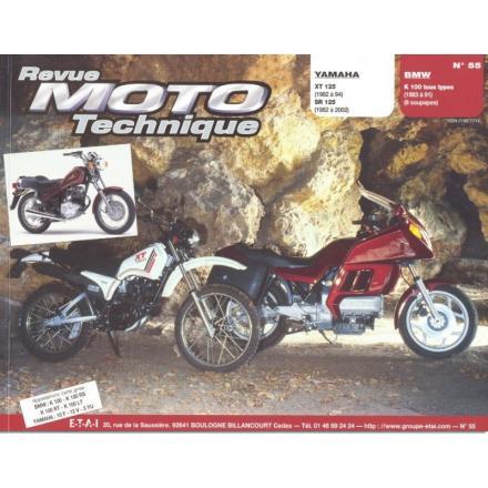 Revue Moto Technique RMT 55.4 YAMAHA 125 XT 82/94 et SR 82/02 / BMW K100 (Tous Types 83/89)