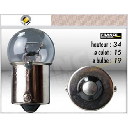 Ampoule BA15S/G18 12V21W PETIT GLOBE