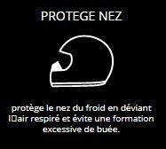 PROTEGE NEZ - protège le nez du froid en déviant l'air respiré et évite une formation excessive de buée.